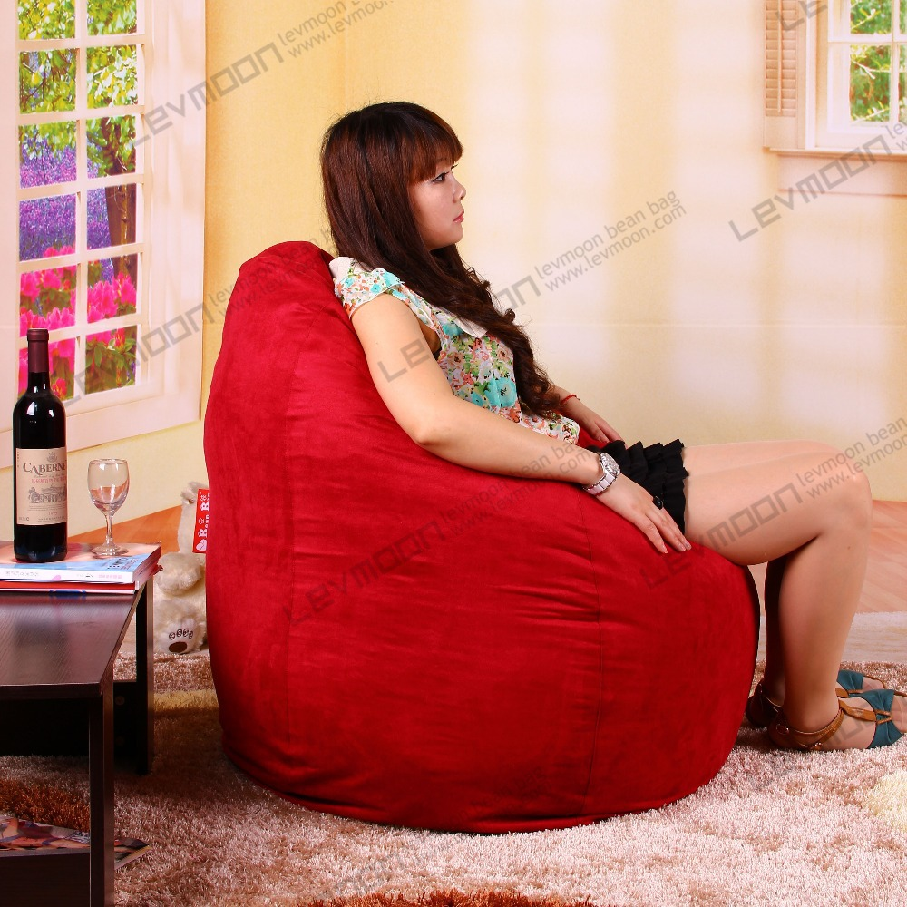 FREE SHIPPING giant bean bag no filling tear drop childrens bean bag online red SUEDE INDOOR  baby bean bags<br><br>Aliexpress