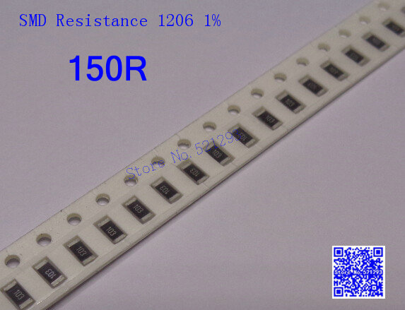 1206 SMD resistor 150 ohm 150R 1% 1/4W Chip 50 - Letter Schindler Electronic Supermarket store