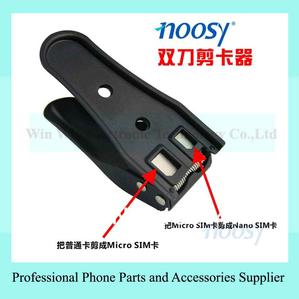 Dual Cutting Edge Standard Micro Nano SIM Card Cutter New for iPhone 5 4 4S SN(China (Mainland))