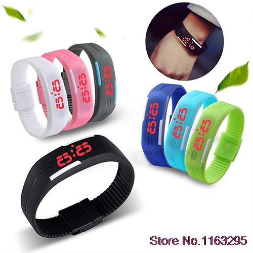 Hot Mens Womens Silicone Red LED Sports Bracelet Touch Watch Digital Wrist Watch <br><br>Aliexpress