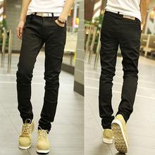 LP21 free shipping 2016 fashion male straight leg denim trousers men brand jeans 28-36 mens business pants black jeans men(China (Mainland))
