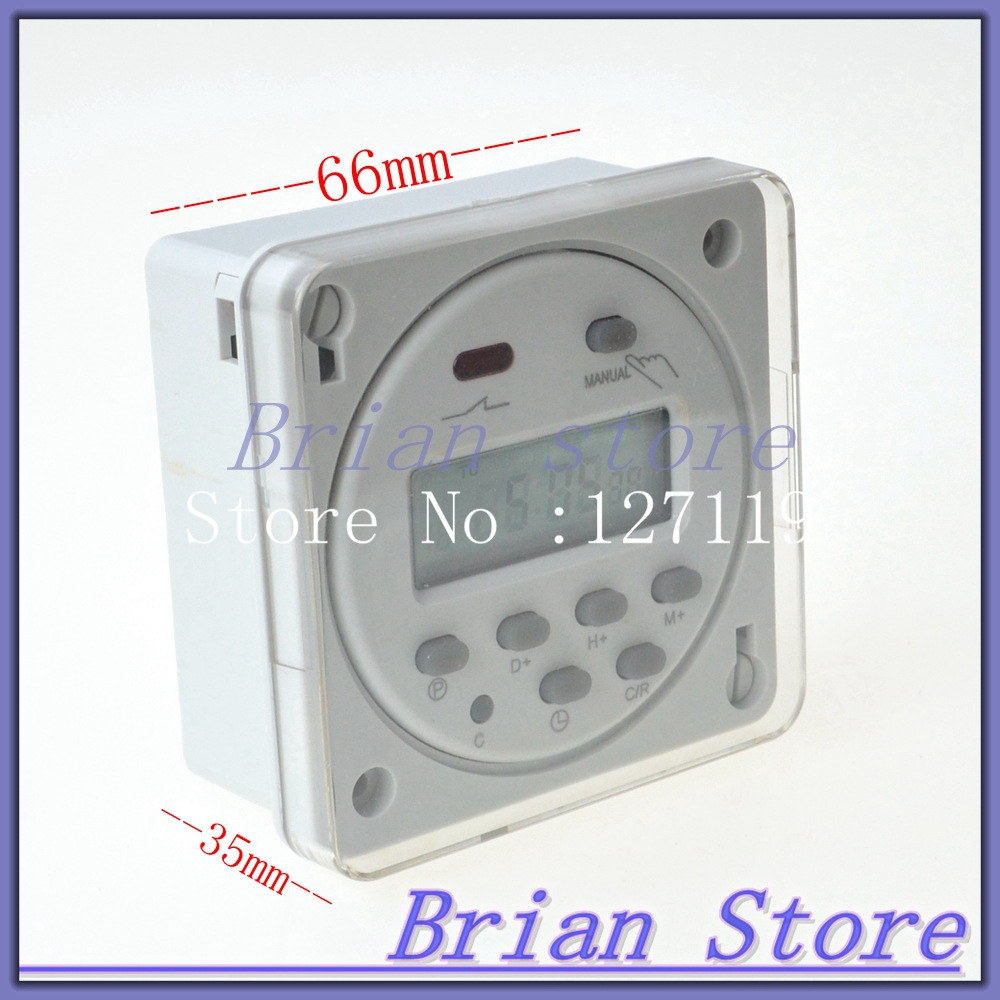 220VAC Mini LCD Digital Power Weekly Programmable Control Timer Switch Time Relay With the protective box(China (Mainland))