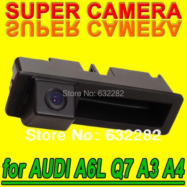 Reversing Security Car Camera for Audi A6L Q7 A3 A4 Parking Wide Angle Wire (Wireless Optional) Cam with High Resolution for GPS