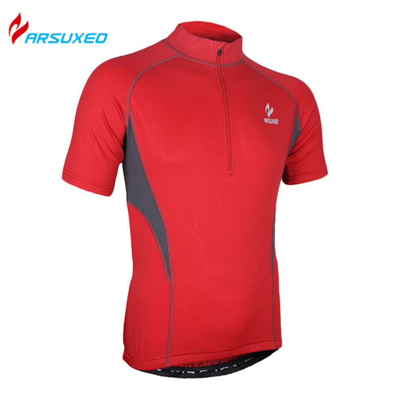 ARSUXEO Professional Outdoor Sports Clothing Men's Short Sleeve Cycling Jersey MTB Road Bike Bicycle Running Sportswear(China (Mainland))