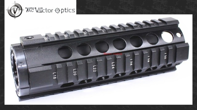 Vector Optics T-Series Free Float 7 Inch Carbine Handguard Quad Picatinny Rail Mount fit  .223 5.56 Rifles for Tactical