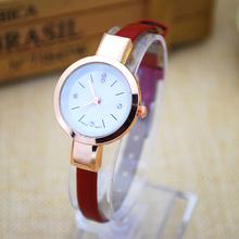 2016 luxury watch women hot sell Leather straps womens quartz watches ultra thin designer wrist watch women relojes de mujer