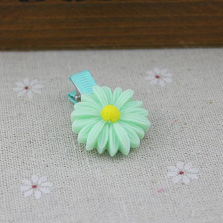 Fashionable production beautiful plastic flower metal hair clip(China (Mainland))