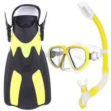 Adult Adjustable Submersible Long Fins Snorkeling Foot Flipper Swimming Scuba Diving Mask and Snorkel Set Equipment 2 Size(China (Mainland))