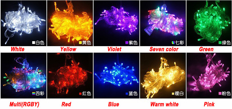 AC 110V/ 220V 10M 100 LED Christmas Twinkle Fairy Light , Party Holiday Wedding Decoration 1 ,10 colors - MOHOTV---Waterproof Bathroom TV / Mirror store