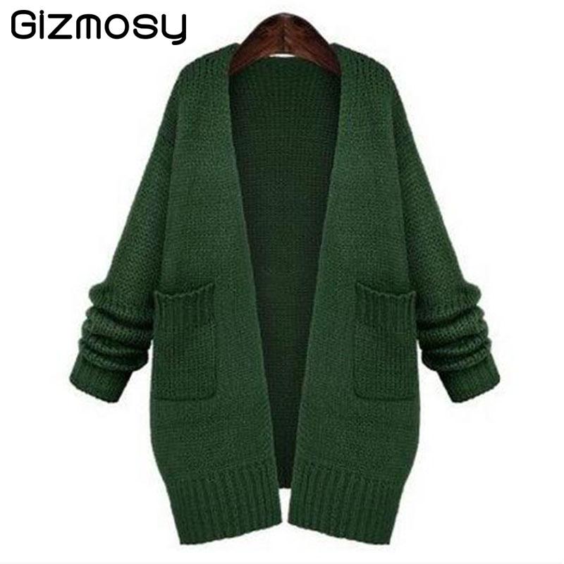 Women Black Crochet Cardigan Long Sleeve Knitted Sweater Autumn Winter Plus Sizes Casual Long Wool Sweater Coats Jacket BN161BN(China (Mainland))
