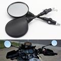 Custom Black Universal Folding Motorcycle Mirror motorbike Side Mirrors Rearview Mirror 8mm 10mm For yamaha Honda