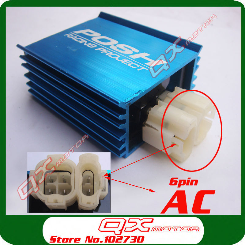 Scooter parts POSH 6 Pin AC Performance Racing CDI GY6 125cc-150cc Scooter Moped ATV Go Kart Motorcycle CDI Free shipping(China (Mainland))