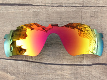 Polycarbonate-Fire Red Mirror Replacement Lenses For Radar Path Vented Sunglasses Frame 100% UVA & UVB Protection