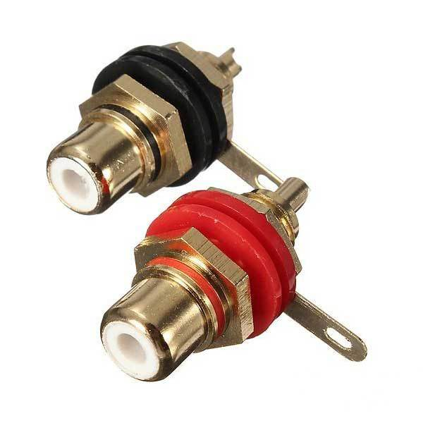 Foxton Audio Binding Post Gold-Plated RCA Chassis Panel Sockets Connectors(China (Mainland))