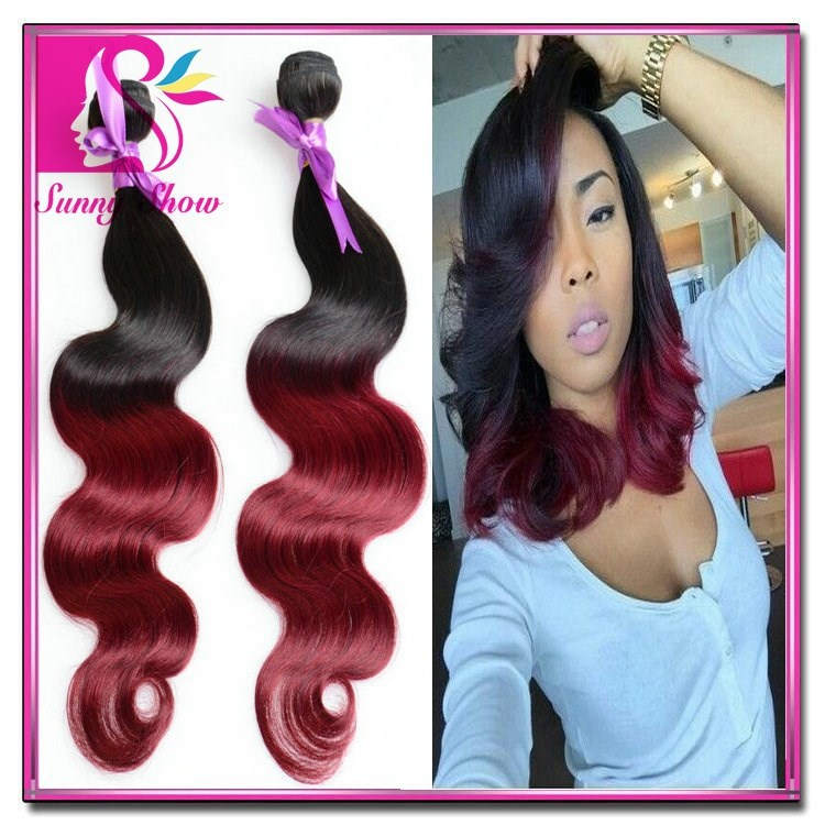 New Indian virgin hair body wave 7a grade virgin hair ombre human hair T1B/27 1B/30 T1B/Burgundy aliexpress uk rosa hair company