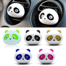 Hot New Car Styling Air Freshener 1 Set Car Air Conditioning Vent Perfume Panda Eyes Will Jump 5 Colors Perfume(China (Mainland))
