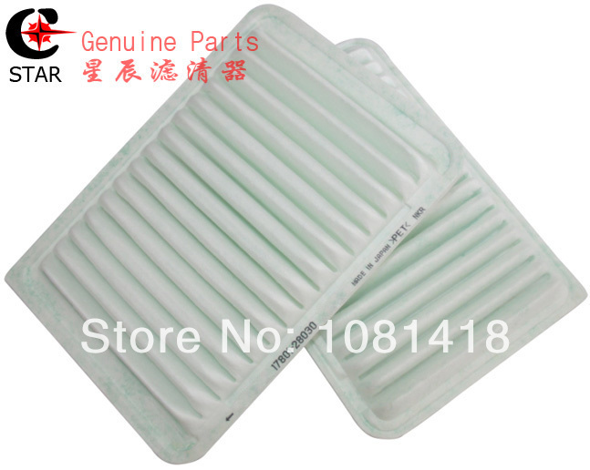 Free Shiping - ASPIRE Brand High Quality Air Intake Filter 17801-28030 for Toyota Camry 2.0/2.4/3.0 size: 298*198*45 mm(China (Mainland))