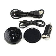 Wireless Car Kit AUX Bluetooth 3.5mm Stereo Audio Music Receiver FM Radio