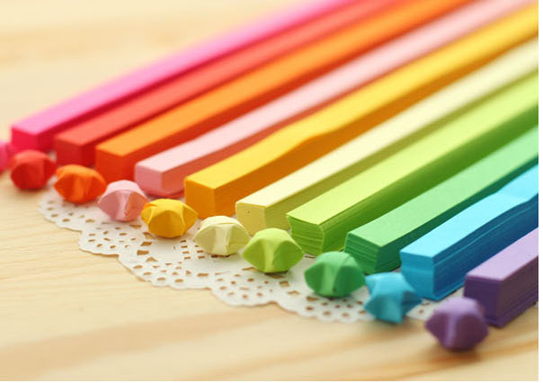 (1530pcs/lot ) Handcraft Origami Lucky Star Paper Strips Paper Origami Quilling Paper Decoration 18 colors(China (Mainland))