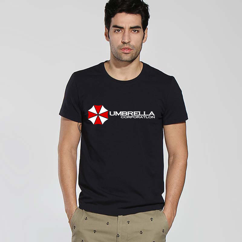 Popular Biohazard Design Resident Evil Umbrella men T Shirt  Short Sleeve Multicolor male funny t-shirt Unique Logo Printing(China (Mainland))