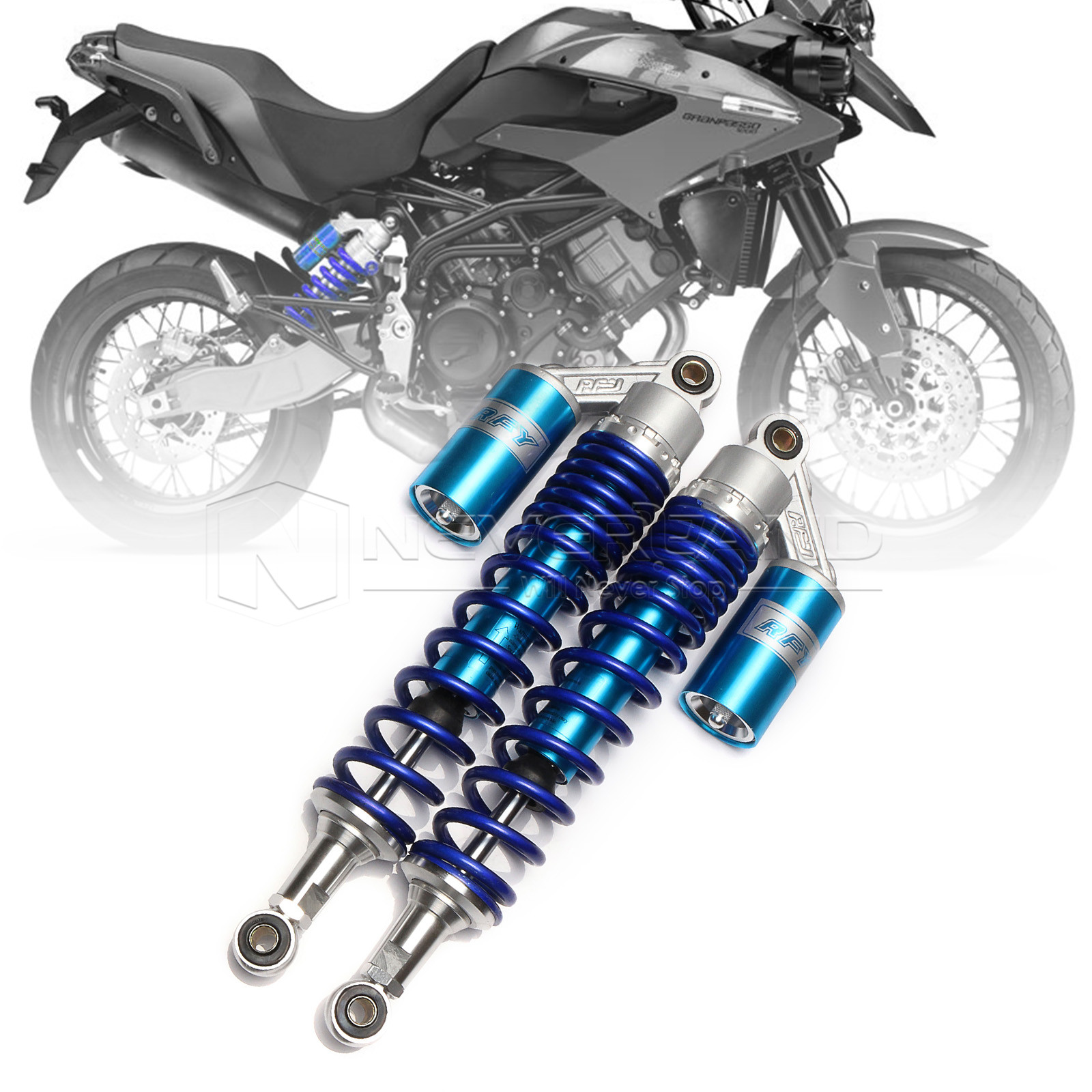 "Universal 15 3/4"" 400mm Motorcycle Air Shock Absorber Rear Suspension Spring Damper Replacement For Yamaha YFZ450 Blue D15(China (Mainland))"