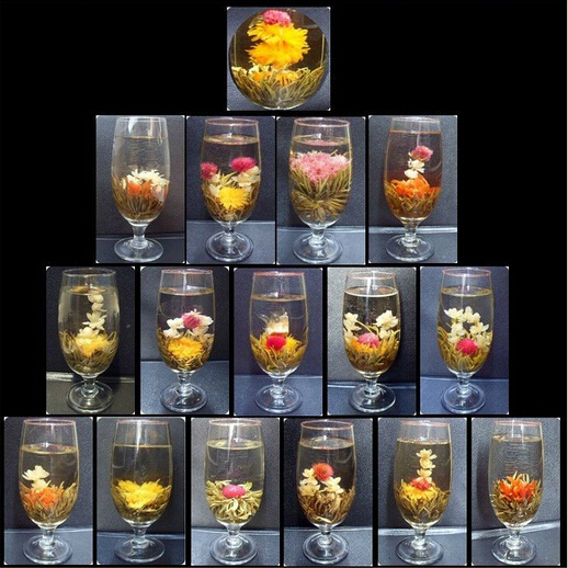 16 Kinds of Handmade Blooming Flower Tea Chinese Ball  blooming flower herbal tea Artistic the tea for health care products 130g<br><br>Aliexpress