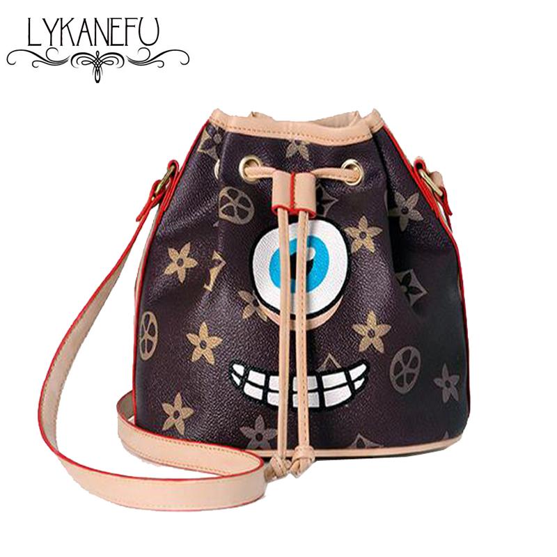 New Fashion Mini Bucket Bag Ladies Leather PU Bags Handbags Women Famous Brands Crossbody Purse Designer Dollar Price <br><br>Aliexpress