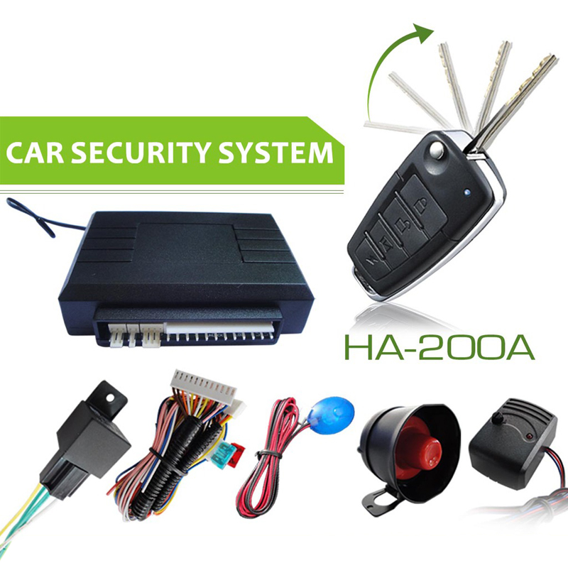 Universal Car One Way Alarm System Flip Key Remote Control Central Door Locking Keyless Entry Remote Trunk Release Anti Theft(China (Mainland))