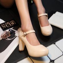 KarinLuna 2018 גודל גדול 33-43 מותג 6 צבעים משאבות נעלי נשים פלטפורמת עקבים גבוהים אביב קיץ מסיבת נעליים אישה OL הנעלה(China)