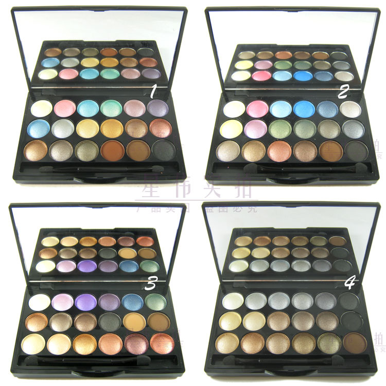 1piece Brand makeup MC 18 color Professional powder eye shadow palette 4 diff color eyeshadow Dropship free shipping(China (Mainland))