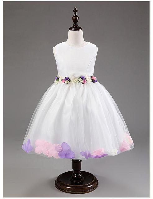 Белый цветок платья для свадеб рукавов Жилетido daminha розовый красный фиолетовый ...