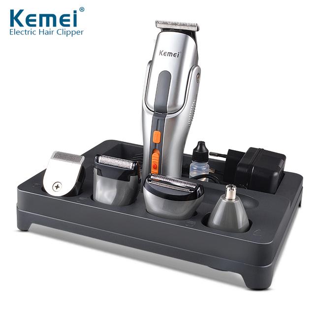 Kemei680A 2016 Новый Многофункциональный Электрический Резак Машинка Для Стрижки Волос Аккумуляторная Триммер Волос Бритва Беспроводная Регулируемая Clipper