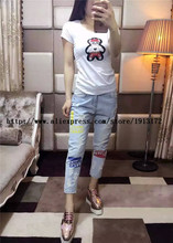 Women Summer Jeans 2016 New Fashion Famous Brand Summer Style Skinney Pencil Pants Jeans(China (Mainland))