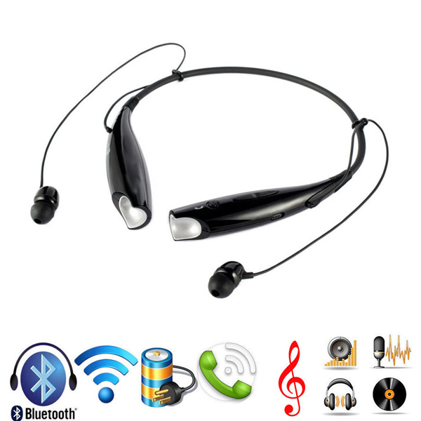 HV-800 Stereo Bluetooth Headset Wireless Headphone Neckband Style Earphones for iPhone Nokia HTC Samsung Bluetooth Cellphone(China (Mainland))