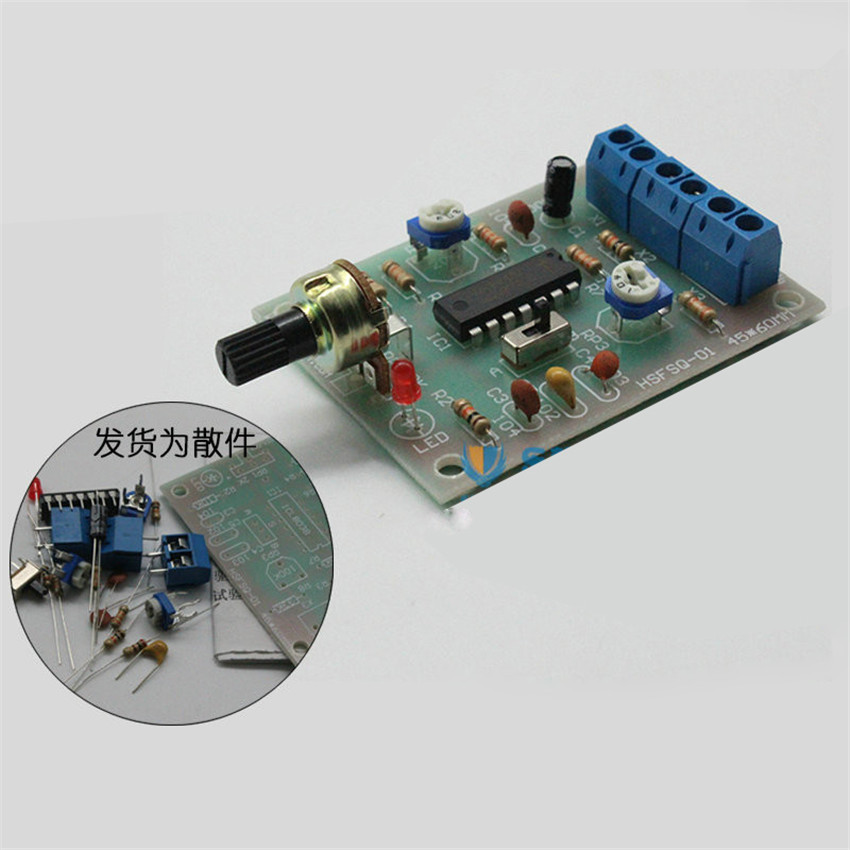 DIY kit ICL8038 Function signal generator circuit suite Sine wave triangle wave square-wave signal diy electronice kit(China (Mainland))