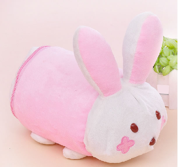 Pink Round Rabbit Tissue/Towel Box Pumping Paper Holder Decor For Table/Toilet/Home/Hotel/Party/Gift/Car Skoda Mercedes Benz(China (Mainland))