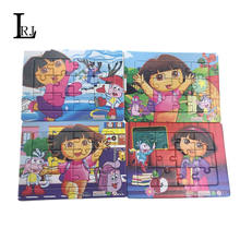 2016 Dora Pattern Cardboard Paper Jigsaw Puzzles Kids Baby Toys Plane Puzzle For Children Education And Learning Aged 1-2-3-4-5(China (Mainland))