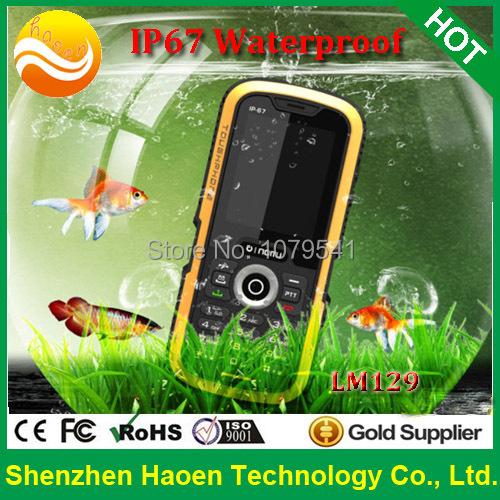Original ip67 Rugged Mobile Phone, OINOM LM129 Waterproof Phone Dustproof Shockproof, Best outdoor Dual SIM tough Mobile phones(China (Mainland))