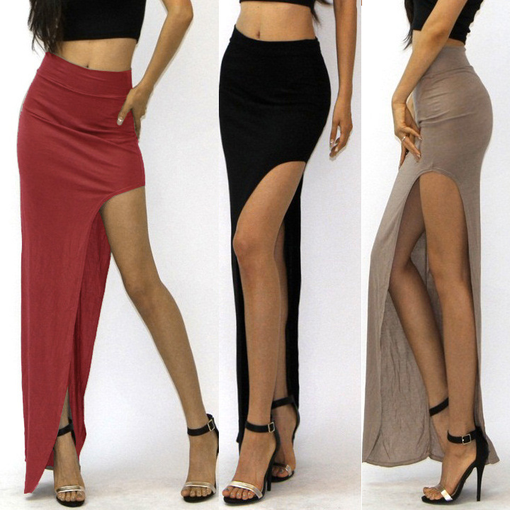 Popular High Waisted Skirts Womens Open Side-Buy Cheap High ...