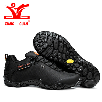 2017 XIANG GUAN Outdoor Hiking shoes EUR size 36-48 man&women Breathable Anti-skid Windproof black brown Trend Sports Sneakers