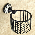 Free Shipping Bathroom Oil Rubbed Bronze Finished Toilet Paper Holder Rack Tissue Baskets Wall Mounted