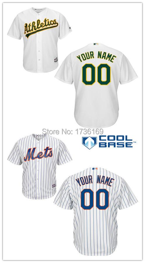 Kids Custom New York Mets Jersey Oakland Athletics Jersey Personalized Stitched Cool Base Baseball Youth Jerseys(China (Mainland))