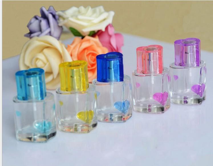 Heart 30ML perfume bottle empty glass spray bottle packing 2pcs/lot(China (Mainland))