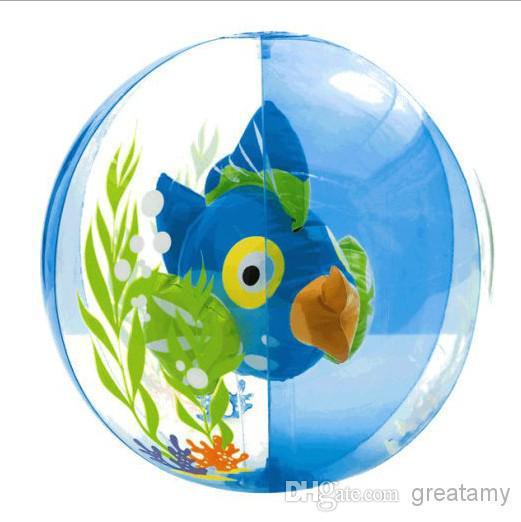 Aquarium golden fish beach ball Brand INTEX children adult beach ball sea swimming play toys 61cm volleyball kids water play bal(China (Mainland))