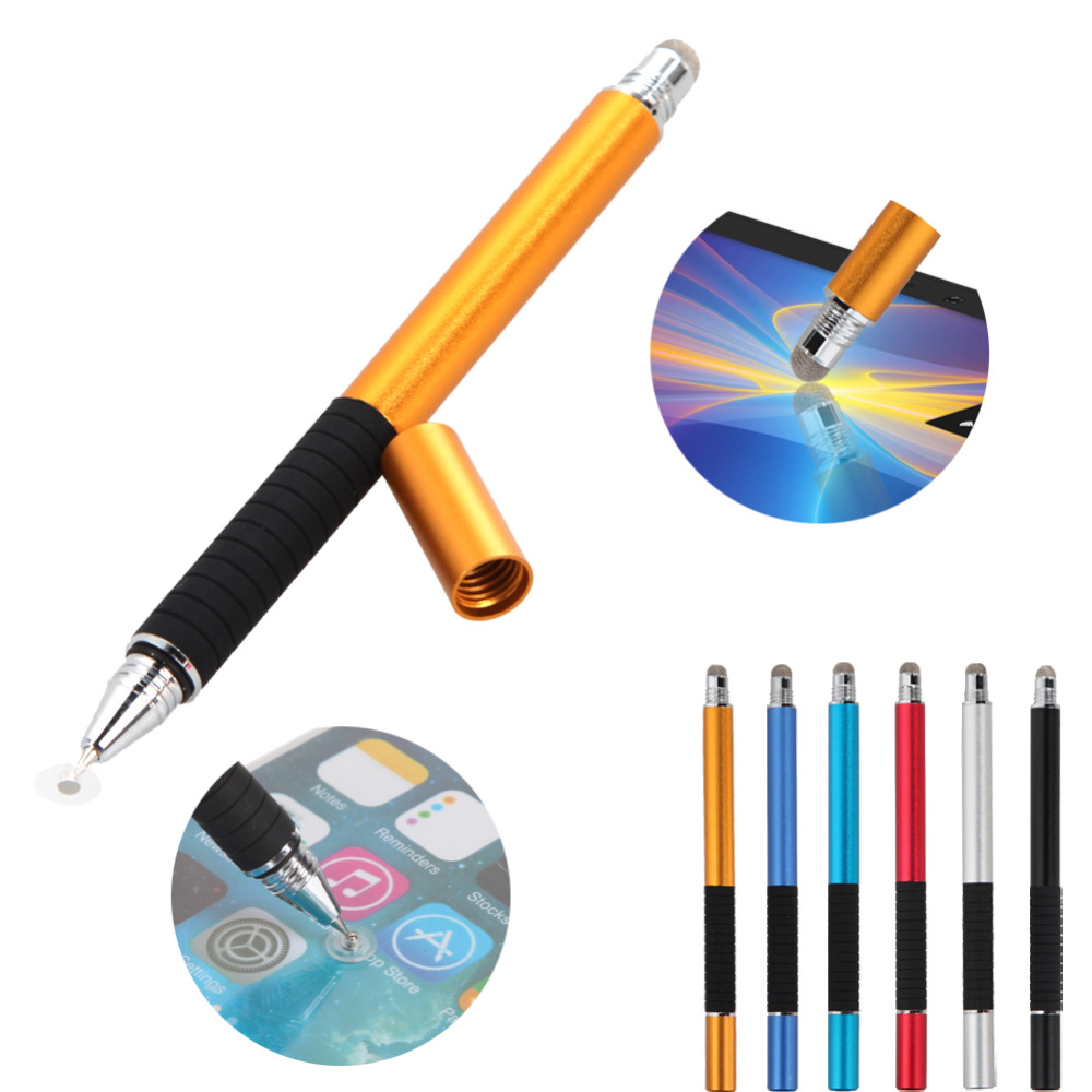 2 in 1 Mutilfuction Fine Point Round Thin Tip Touch Screen Pen Capacitive Stylus Pen For iPad iPhone All Mobile Phones Tablet(China (Mainland))