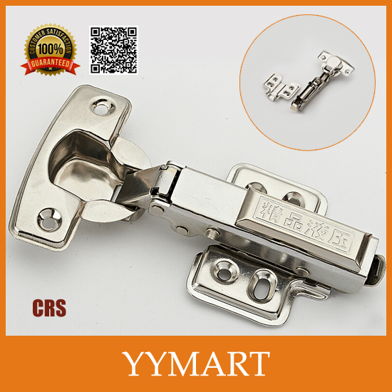 1PC Inset Door Lift Off Hardware CRS Hydraulic Brass Cabinet Cupboard Door Hinges Buffer J0219(China (Mainland))