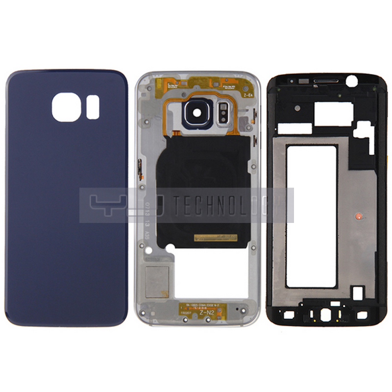 New Full Housing Cover Replacement Front LCD Bezel Plate Back Camera Panel Battery Back Cover for Samsung Galaxy S6 Edge G925F(China (Mainland))