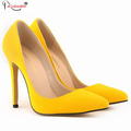 Sexy Women Flock Leather Shoes Ladies Wedding Evening High Heels Pointed Toe Pumps Work Court Party
