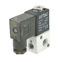 High quality 3V1-06 2 Position 3 Way Air Gas Solenoid Valve DC 12V 3W 120mA  Free shipping(China (Mainland))