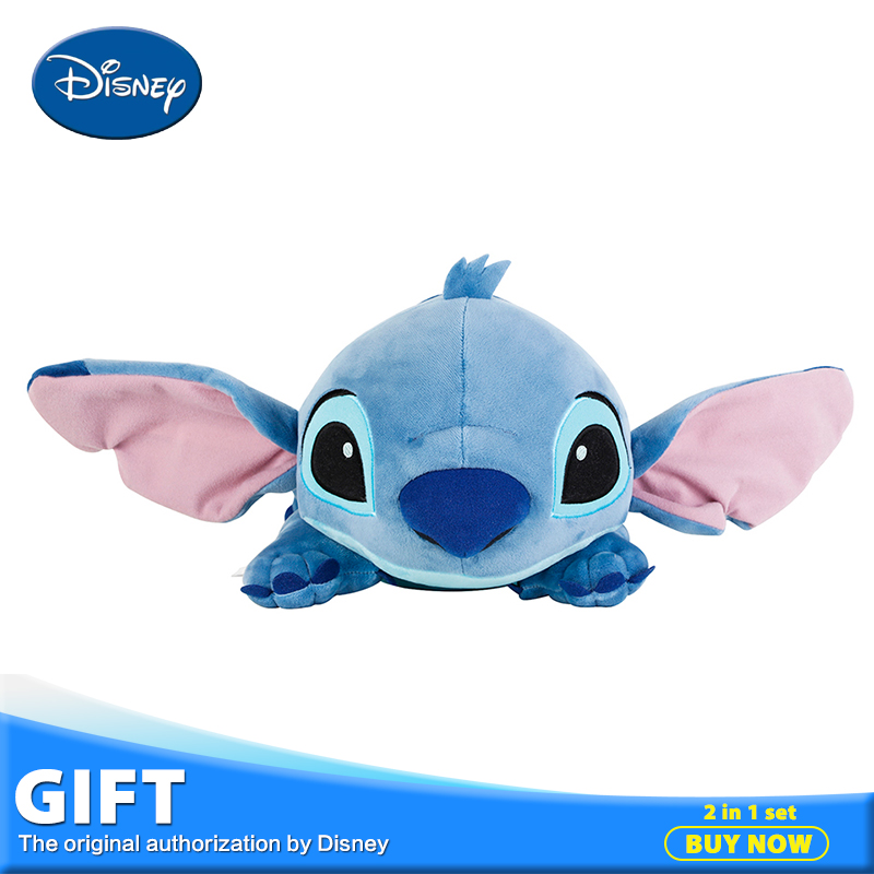 Disney Stitch 40cm Plush Stuffed Toy Peluches Doll+Pillow+Blanket Pillow Portable Rest Warm Blanket Toys For Children Brinquedos(China (Mainland))